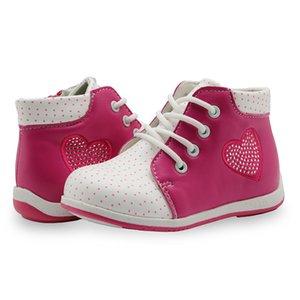 APAKOWA Spring Automne Handmade Fashion Filles Bottes PU Cuir Martin Bottes Bottes Enfants Bottes Enfants Filles Chaussures avec Crystal 201009