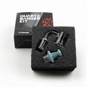 New 25mm quartz Banger Kit With Carb Cap terp pearl Female Male 10mm 14mm 18mm Quartz Bangers Nails For Glass bongs