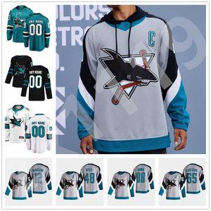 San Jose Sharks 2021 Reverse Retro Hockey Jersey 88 Brent Burns Jersey Logan Couture Joe Thornton Erik Karlsson Evander Kane Sonderanfertigte Nähte