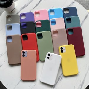 Ultra Slim Candy Colors Telefono Case Soft TPU Cover per iPhone 12 11 Pro Max XS Max XR X PLUS Huawei Mate 20