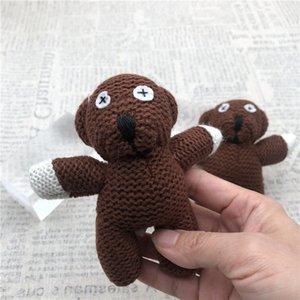 100pcs GRATUIT MR Teddy 11cm Peluche Keychain Bean Cut Pendentif en peluche Poupée Soft Poupée Soft Toys Expédition Athmg