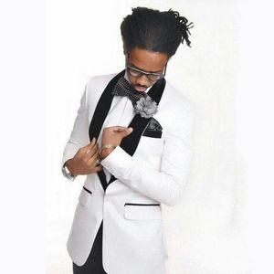 Männer Anzüge Blazers Weißer Bräutigam Hochzeit Smoking Männer Für Mann Outfits Kostüm Mariage Homme Groomsmen Blazer Teo Stücke Slim Fit