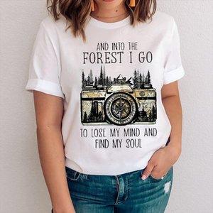 Women Graphic Camera Travel Camper Fashion Clothing Cute 90s Clothes Lady Tees Print Tops Clothing Female Tshirt T Shirt