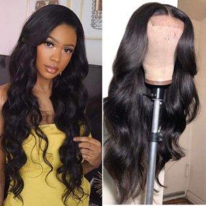 Dantel Peruk Halo Vücut Dalga 26 28 30 Inç 13x4 Ön İnsan Remy Saç Öncesi Brezilyalı Siyah Kadınlar Için Pretted Tutkalsız Frontal Peruk