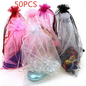 50pc Organza Bags Jewelry Candy Bag Wedding Favors Bags Mesh Gift Pouches