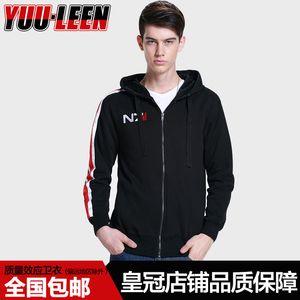 Quality effect sweater. N7 sweater fleece zipper Hoodie Jacket game peripheral clothing