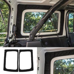 검은 뒷면 창 절연면 4door Jeep Wrangler JL JLU 2018 2019 2020 인테리어 액세서리