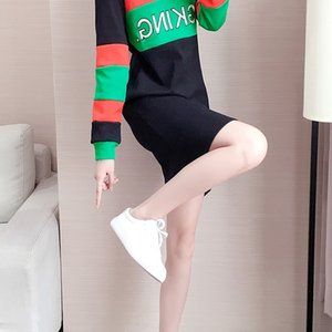 Cashmere thickened over the knee mid length sanitary dress women fashion brand 2020 spring and Autumn New Korean slim dress