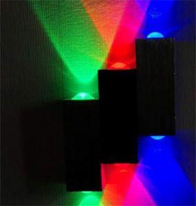 Dessin de LED Aluminium Wall Lamp Hotel Apartment Salon Lumière Bar rouge Vert et bleu Tricolore Lampes décoratives Vente chaude 28ZL J2