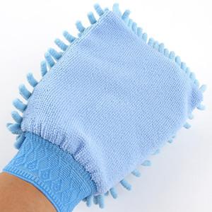Coche suave limpieza toalla microfibra chenilla guantes de lavado coral vellón antiozoan coche esponja lavado tela cuidado de cuidado limpieza yhm302