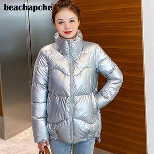Beachapche pão casaco mulheres para baixo mulheres parka inverno jaqueta mulher