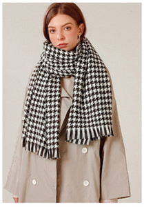 2020 fashion boutique cashmere houndstooth scarf female new brand scarf haute couture warm scarf