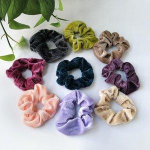 20 15 9 PC Velvet Scrunchie For Women Girls Elastic Hair Rubber Bands Hair Accessories Gum Tie Ring Rope Ponytail Holder