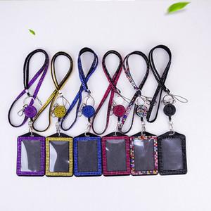Rhinestone Inlay Hängende Gürtel Handgefertigte glänzende Frauen Männer Einfache Halskette Strap Crystal Phone Anhänger Schlüsselanhänger Mode Kompakt 6 8xq m2