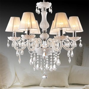 European style living room crystal chandelier candle lamp modern dining room kitchen lamp bedroom lamp double chandelier
