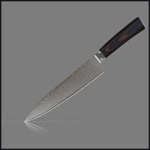 """XYJ-Messer Set 8-Zoll-Chef 8 """"Slicing 5.5"""" Utility 5 """"Utility 3,5"""" Obstmesser Damaskus Edelstahl Küchenmesser aus Edelstahl."""