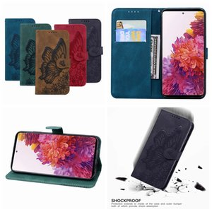 Imprint Butterfly Flower Leather Wallet Case For Samsung A10 A20 A40 A50 A70 A20E A51 A71 5G S10 S9 LG K42 K52 Vintage Holder Flip Cover
