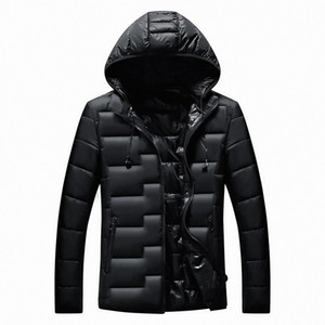 Men's New Winter Cotton Casual Coat Hooded Warm Cotton-padded Jacket Men's Parkas Winter Hooded Coat Down Cotton Suit