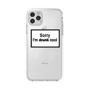 Trendy English sentence for iphone12 pro max mobile phone case transparent TPU11 Apple Xs protective cover wireless bluetooth headphones