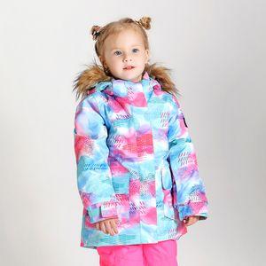 Kids Padded Colorful Ski Jackets With Powder Skirt Girls Waterproof Warm Snowboarding Snow Wear Childrens Skiwear Parka Anorak Climbing Coat