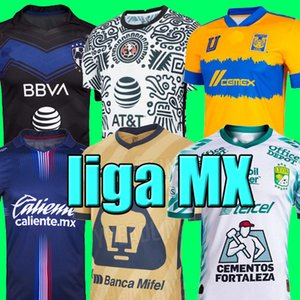 Liga MX 21 22 Club America Soccer Jerseys Terzo 2021 2022 Messico Xolos de Tijuana Tigres Unam Men Bambini Chivas Cruz Azul Camicie di calcio