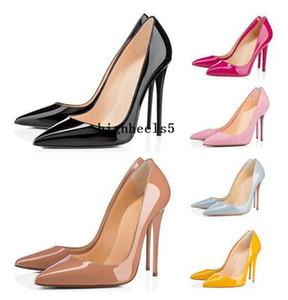 2020 أزياء المرأة أحذية رياضية أحمر أسفل الكعوب حتى كيت نمط 8 سنتيمتر 10 سنتيمتر 12 سنتيمتر جولة مدببة أصابع القدم مضخات القيعان المسامير عالية الكعب اللباس أحذية