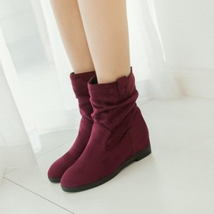 Oversized 12 boots women shoes ankle boots for women ladies shoes woman winter Fold sleeve inside heighten