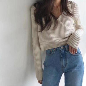 New Female Sweater Women Winter Pullover Knitting Overszie Long Sleeve Girls Tops Loose Sweaters Knitted Outerwear Thin Sexy