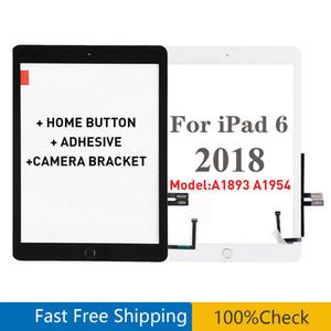 لباد 6 6th Gen 2018 الإصدار A1893 A1954 شاشة تعمل باللمس محول الأرقام الجبهة الخارجية لوحة الزجاج لباد 9.7 مع زر المنزل
