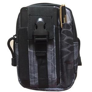Men Tactical Pouch Belt Waist Pack Bag Small Pocket Waist Pack Running Pouch Travel Waterproof Camping Bag Outdoor Tool