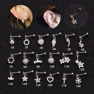 A new cylindrical pendant tree on plum star cubic ear pierced jewelry steel Barbie earrings