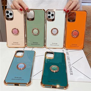 Bling Plating Shockproof Soft Case Ring Holder For iPhone 11 Pro Max XS XR X 8 7