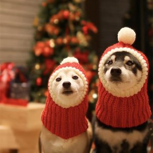 Woolen Christmas Knitted Pet Dog Cat Hats Lovely Winter Puppy Dog Costume Cute Head Dress Hat Size S M L