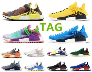 NMD Human Race Pharrell Williams BBC Infinite Hombre Especies R1 V2 Núcleo Negro Carbono Corriendo Zapatillas Triple Mujeres NUDE NERD Sneakers