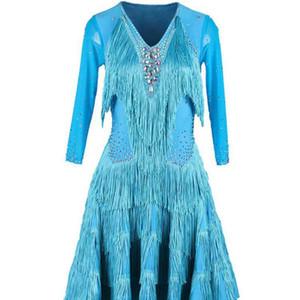 Brand New Ladies Latin Dance Bright Diamond Competition Suit Jitterba Dance Fringe Performance Skirt Square Jumpsuit Skirt