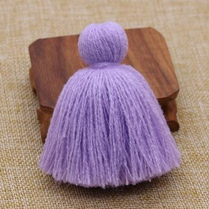 10 pcs 8cm Fluffy Acrílico Fat Tassel Fringe Pingentes DIY Crafts Cortinas Garments Bags Decoração Borlas Tassels Trim Acessórios H Wmtghd