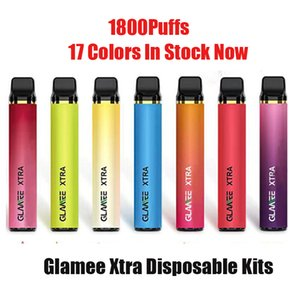 Authentic Glamee Xtra Disposable Pod Kit 5.8ml Prefilled 1800 Puff 1200mAh Vape Pen Stick Bar Device XXl Onee Plus Max 100% Original