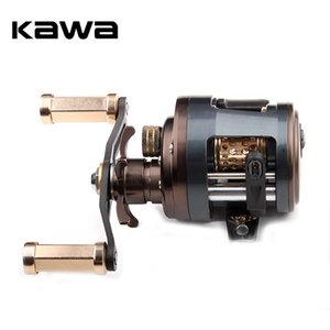 KAWA Metal Fishing Reel Drum Wheel Bait Casting Trolling Lure Reel 11+1 Bearings Metal Cover Alloy Spool Carbon Handle Z1128