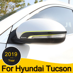 Car Rear View Mirror Sticker For Hyundai Tucson 2015 2016 2017 2018 2019 2020 stainless steel Rearview Mirror Side Cover Stripe