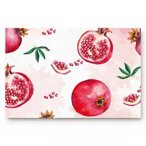 Sommer Obst Rot Granatapfel Aquarell Wohnzimmer Fußmatte Home Umweltschutz Badezimmertür Rutschfeste Bodenmatte