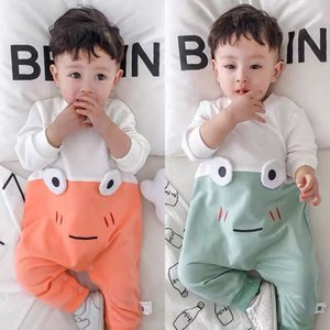 Baby Jumpsuit Spring and Autumn Newborn Clothes Clothes 0-15 Months Baby Pure Cotton Outdoor Long-Sleeved Baby Rompers Tide