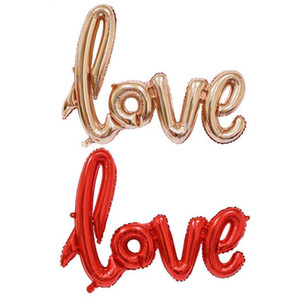 Big Ligatures Love Letter Foil Balloon Anniversary Wedding Valentines Birthday Party Decoration Champagne Cup Photo Props