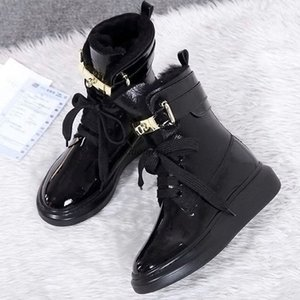 2020 Women Red Bottom Tread Slick Boots Black Leather Communa Ankle Boots For Women Flat Party Dress Winter Luxury Designer Shoes kp1