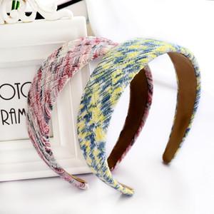Winter Faux Fur Fur Woolen Plaid Plaid Hairband Diadema para mujer para mujer Accesorios para el cabello