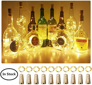 2M 20LED Wine Bottle Stopper Cork Shaped Light LED Copper Wire String Lights For Xmas Party Wedding Halloween