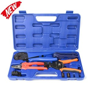 IWISS KIT-2546S MC4 Solar Crimping Crimper Plier Tool Kit with Stripper, Cutter, MC4 Spanners and Dies for Crimp 2.5 4 6mm2