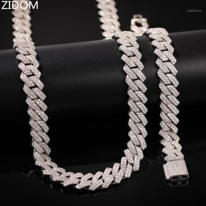 Chains Men Hip Hop Iced Out Bling Cuban Chain Necklace High Quality Zircon Style Necklaces Hiphop Jewelry1