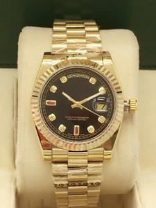 36mm Ladies Mechanical Watch Strap in acciaio inox, Giorno / Data Series 69 Quadrato Diamante Ding Watch Fashion Impermeabile Funzione Guarnizione regalo
