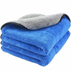 720gsm Plush Coral Feece Microfiber Wash Towel Car Cleaning Drying Cloth Sofe Super AbsorbentHigh Quality 40cmx40cm 2 Pack 201021