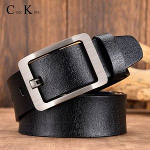 Caze Kyts men belt fashion retro Cowhide belts for men alloy black pin buckle men's jeans wild business belt free shipping NEW 201120